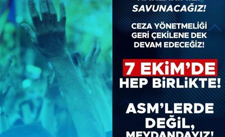İstanbul Miting Duyurusu